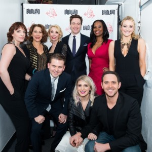 (Back row, left to right) Broadway Belts for PFF! cast members, Julia Murney, Randy Graff, Julie Halston, Erich Bergen, Zakiya Young, Betsy Wolfe (Front row, left to right) Bobby Creighton, Annaleigh Ashford, Santino Fontana. The Tony award-winning cast performed at the Broadway Belts for PFF! fundraiser to benefit the Pulmonary Fibrosis Foundation at Birdland in New York City on February 23, 2015. Photo by Mike Sheehan. (PRNewsFoto/PFF)