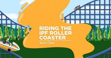 A banner for Kevin's column, depicting a roller coaster winding through a forest.
