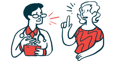 Life with PF | Pulmonary Fibrosis News | Boehringer Ingelheim | illustration of doctor talking to patient